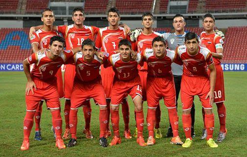 منتخب سورية للناشئين يلاقي الكوري الجنوبي في نصف نهائي آسيا بكرة القدم