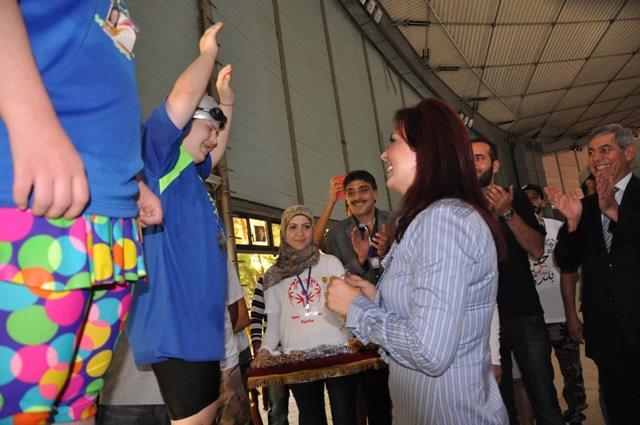 السيدة منال الأسد تشارك في تتويج المشاركين في الدورة الرياضية الأولى للأولمبياد الخاص