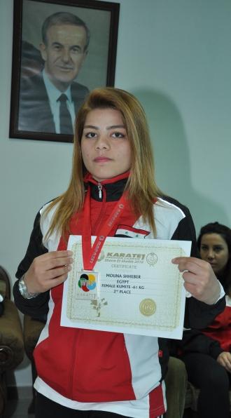 بطلتنا الشابة منى شحيبر إلى ماليزيا للمشاركة ببطولتها الدولية المفتوحة بالكاراتيه
