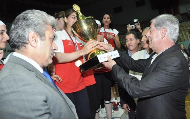 فريق الشرطة يتوج بلقب كأس الجمهورية بكرة اليد للسيدات