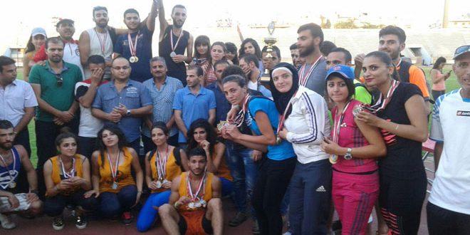 اختتام بطولة الجامعات والمعاهد المركزية لألعاب القوى والشطرنج في اللاذقية