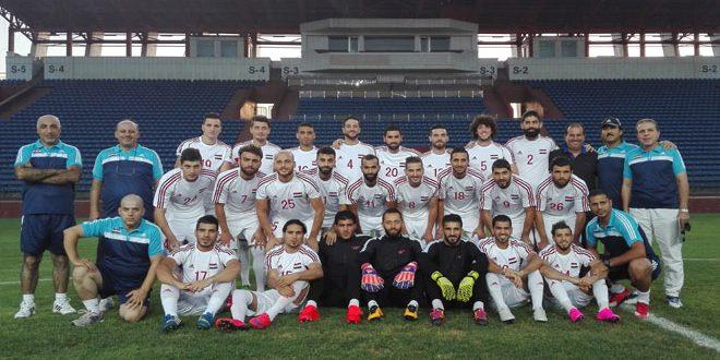 منتخب سورية لكرة القدم باشر تدريباته في أوزبكستان استعدادا للقاء منتخبها في تصفيات كأس العالم في روسيا