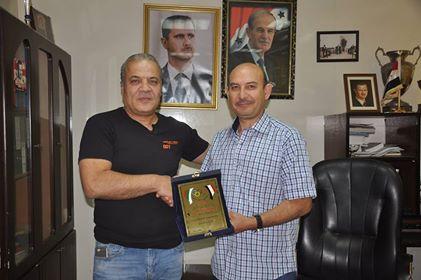 رئيس اتحاد ألعاب القوى يلتقي رئيس الرابطة السورية البلغارية للرياضة