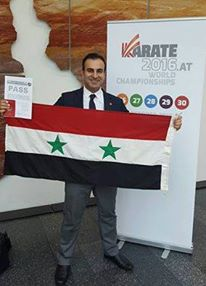 الحكم السوري الدولي أمجد عبيد يحصل على شارة تحكيم دولية جديدة في الكاراتيه