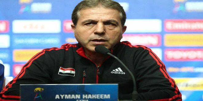 الحكيم يعلن استقالته من تدريب منتخب سورية لكرة القدم