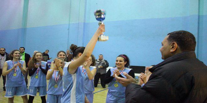 فريق الثورة يحرز لقب بطولة كأس الاتحاد بكرة السلة للناشئات