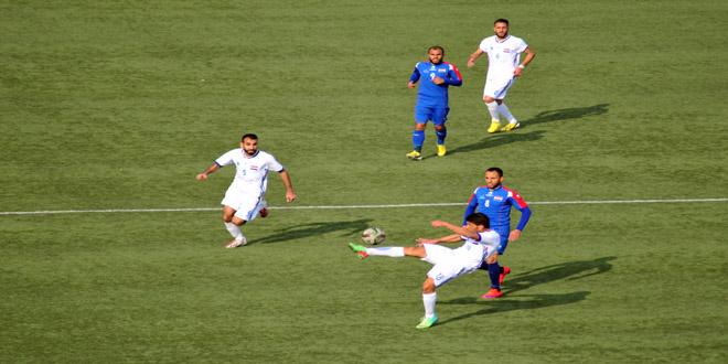 تشرين يتصدر مؤقتا فرق الدوري الممتاز لكرة القدم