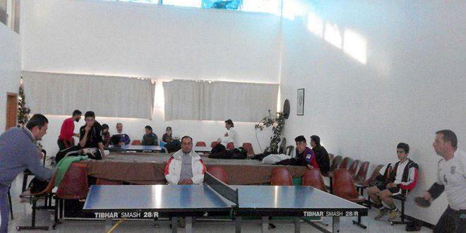 بطولة تنشيطية مفتوحة بكرة الطاولة في السويداء