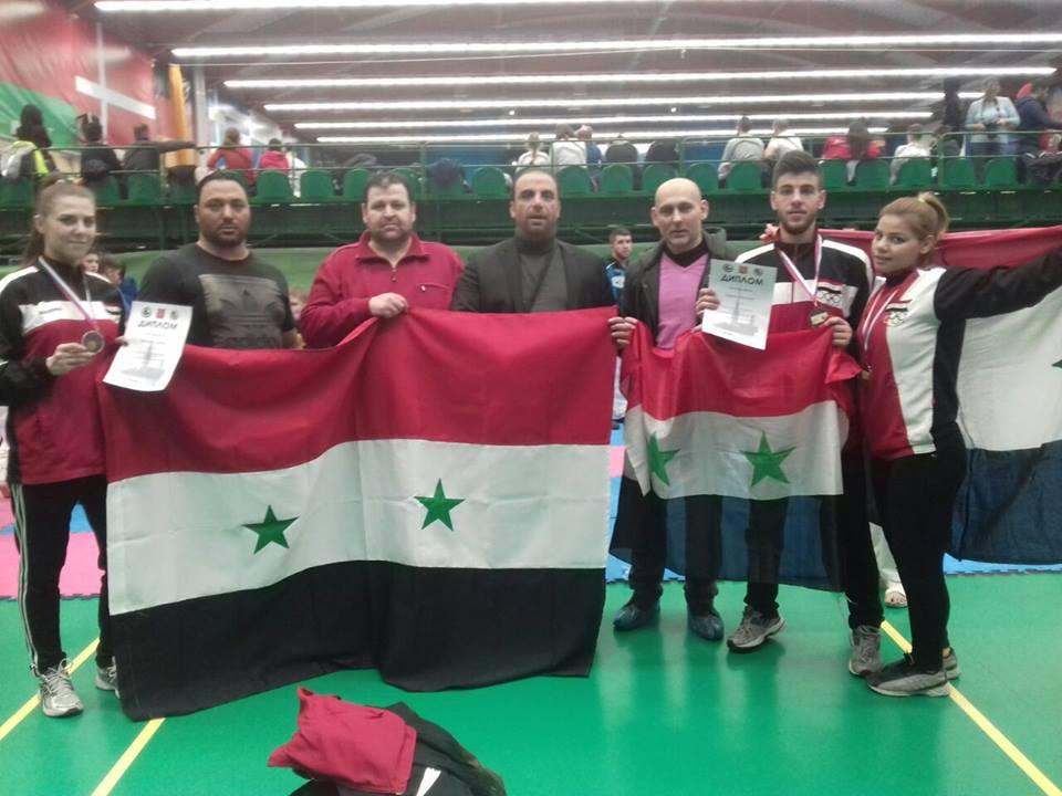 منتخب سورية الوطني للكاراتيه يحرز ثلاث ميداليات برونزية في بطولة روسيا الدولية المفتوحة