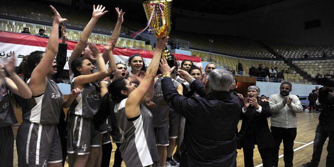 فريق الثورة يحرز لقب بطولة كأس الجمهورية بكرة السلة للسيدات