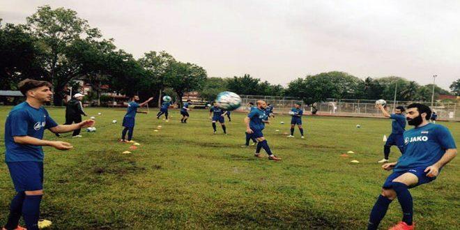 منتخب سورية لكرة القدم يتابع تدريباته في ماليزيا تحضيرا للقاء نظيره الأوزبكي في تصفيات مونديال روسيا