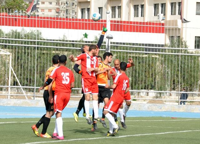 تعادل فريقي الكسوة وجرمانا في دوري أندية الدرجة الأولى بكرة القدم