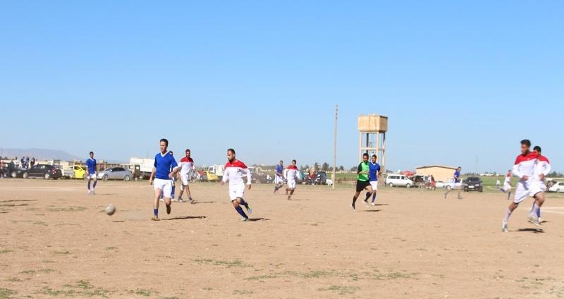 كرنفال رياضي بلوحة وطنية في ريف القامشلي