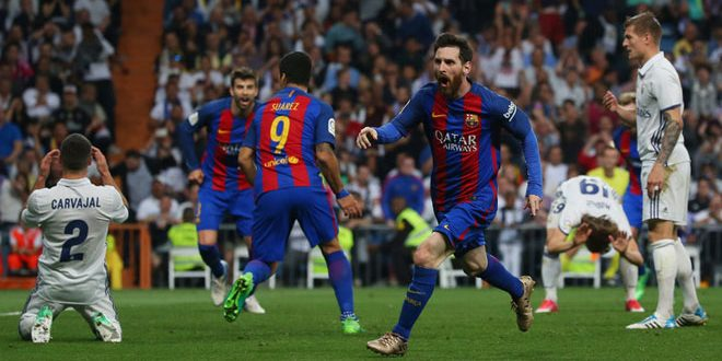 برشلونة يهزم غريمه ريا ل مدريد في مواجهة مثيرة بالدوري الإسباني