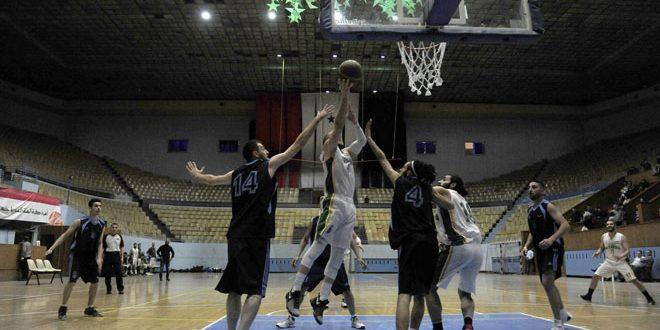 تأهل الاتحاد واليرموك والنصر والجيش والحرية إلى ربع نهائي دوري كرة السلة للرجال