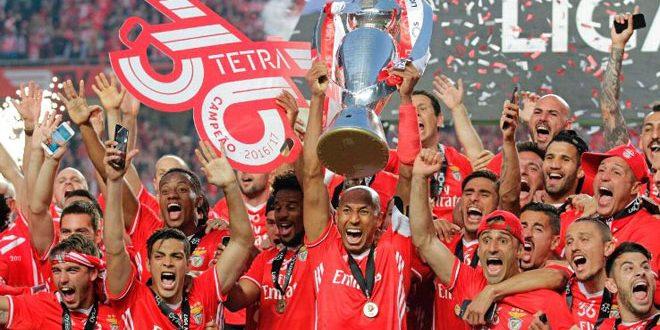 بنفيكا يتوج بطلا للدوري البرتغالي لكرة القدم