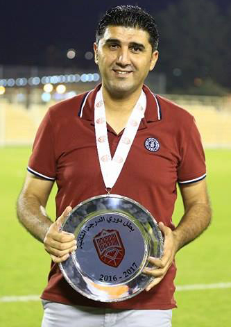 مدربنا الشاب هيثم جطل يقود فريق الشباب بنجاح إلى دوري المحترفين البحريني
