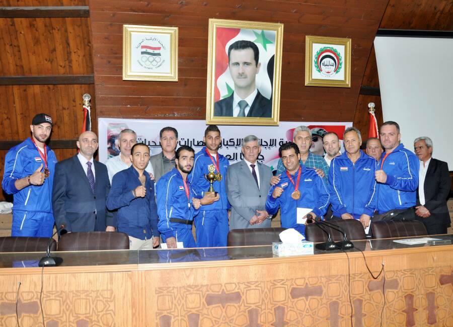 الاتحاد الرياضي العام يكرّم أبطال وبطلات الرياضة السورية ممن أحرزوا مراكز متقدمة مؤخراً