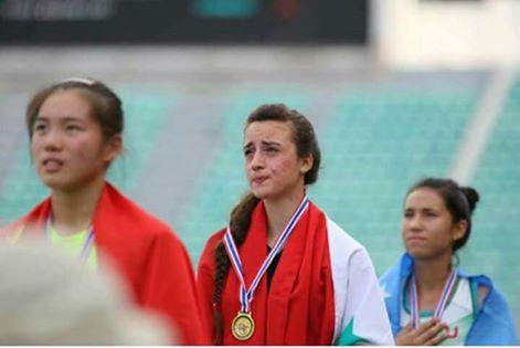 لاعبة منتخب سورية لألعاب القوى لوريس دنون تحرز ميدالية ذهبية في بطولة آسيا للناشئين والناشئات في تايلاند