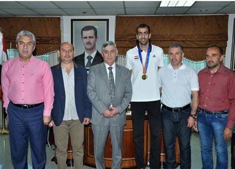 اللواء جمعة يهنئ اللاعب مجد غزال بإنجازه في سلسلة الجائزة الكبرى الآسيوية وتأهله إلى بطولة العالم