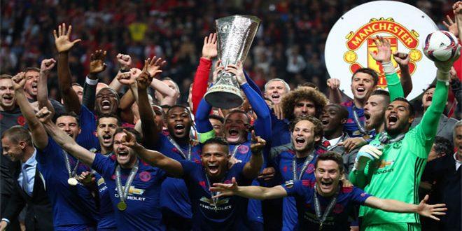 مانشستر يونايتد يفوز بكأس الدوري الأوروبي لكرة القدم
