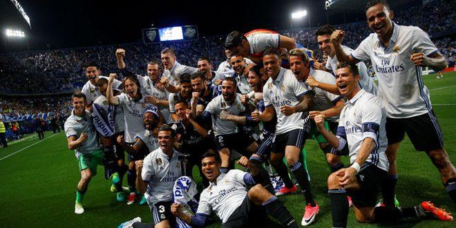 ريا ل مدريد يتوج بطلا للدوري الإسباني بكرة القدم