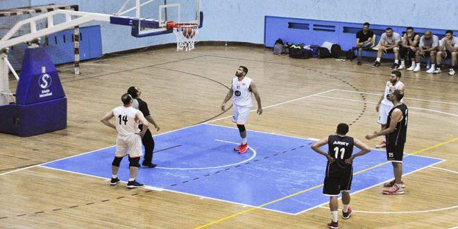 فريق الجيش يحقق فوزه الثاني في نصف نهائي دوري كرة السلة للرجال