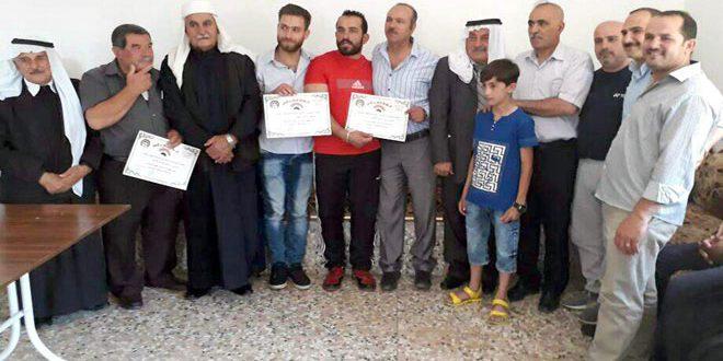 تكريم مدربي الكاراتيه في نادي شقا واللاعبة ديانا الحسين