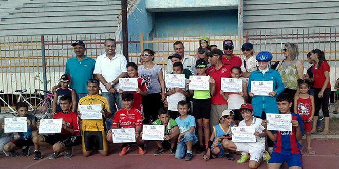 اختتام بطولة المراكز التدريبية للدراجات في اللاذقية