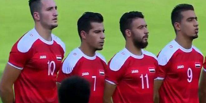 منتخب سورية الأولمبي يتعادل مع منتخب تركمانستان سلبا في تصفيات آسيا