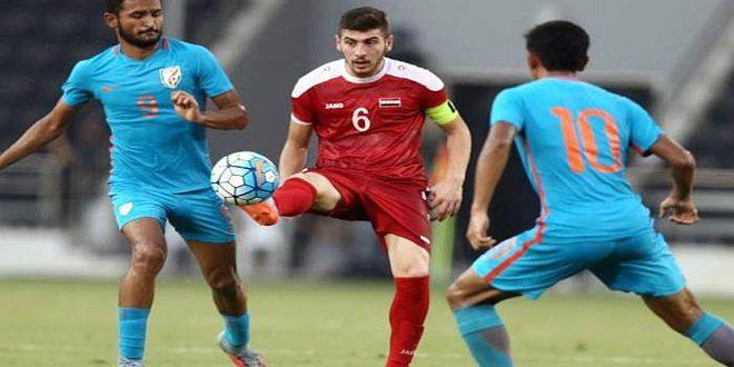 منتخب سورية الأولمبي لكرة القدم يفوز على نظيره الهندي في افتتاح مشواره بتصفيات آسيا