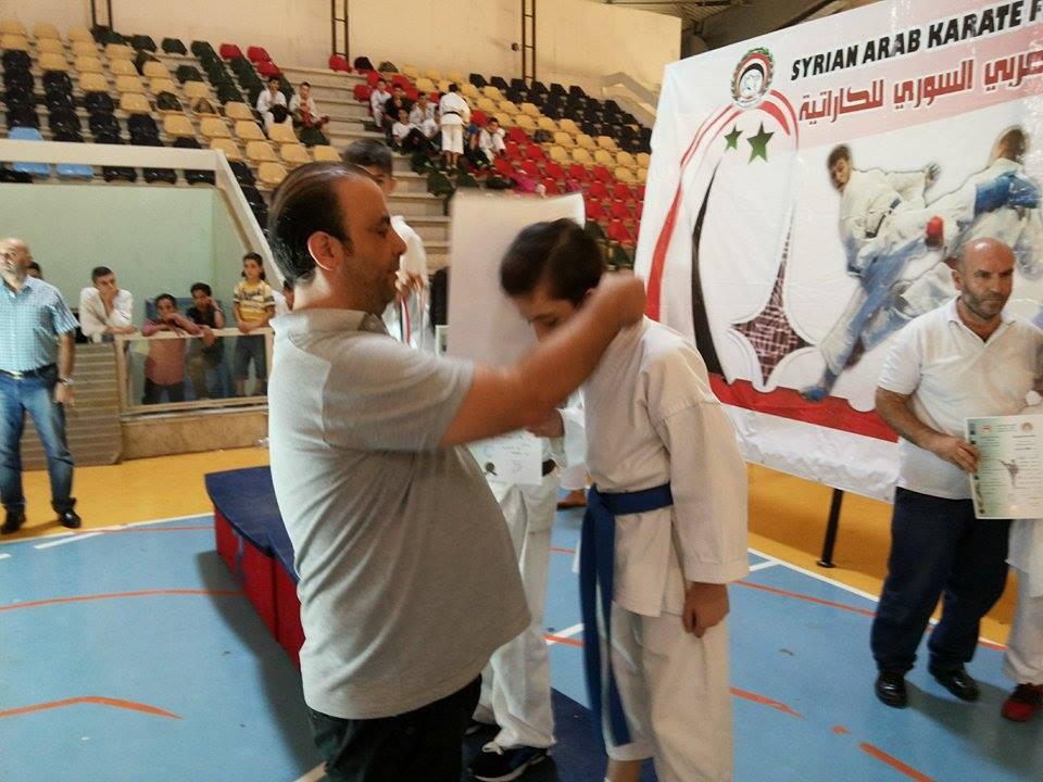 نادي تشرين يتوج بلقب بطولة أندية الكاراتيه الأولى المفتوحة