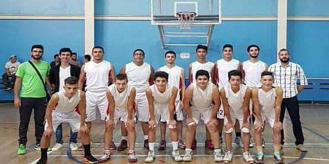 فريق ناشئي جرمانا بكرة السلة يتألق في بطولة الدوري