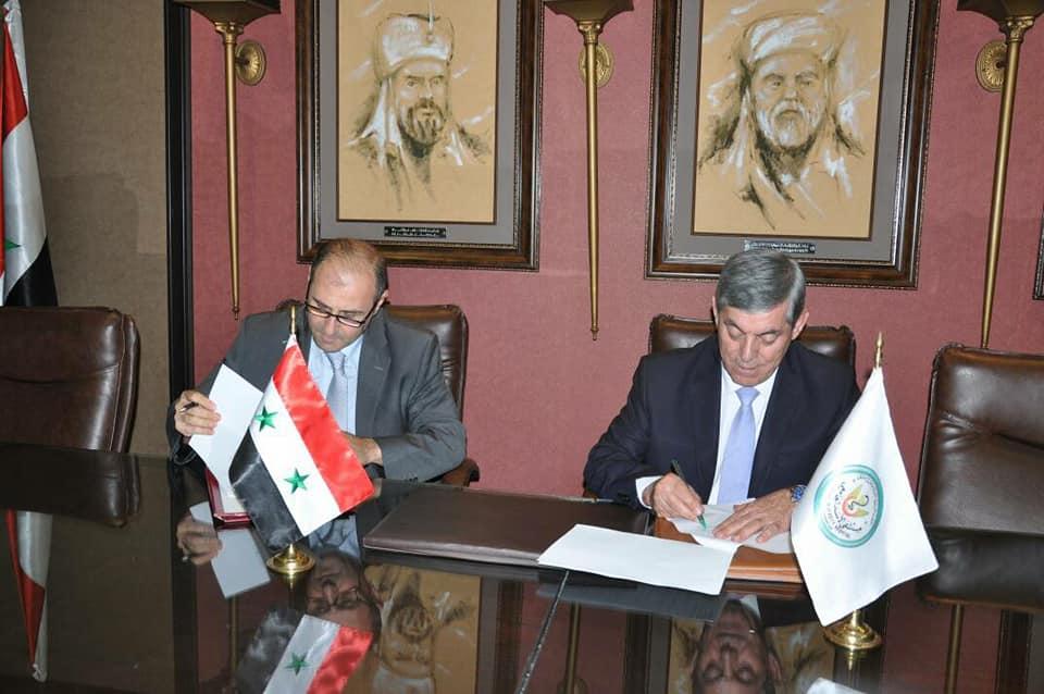 اتفاقية تعاون بين الاتحاد الرياضي العام ومشفى الأسد الجامعي