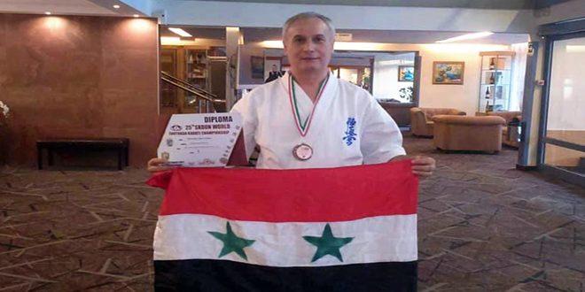 برونزية لسورية في بطولة العالم للكاراتيه للمخضرمين