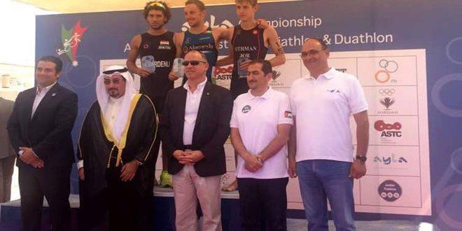 خمس ميداليات لمنتخب سورية للترياثلون في بطولتي آسيا وغرب آسيا بالأردن