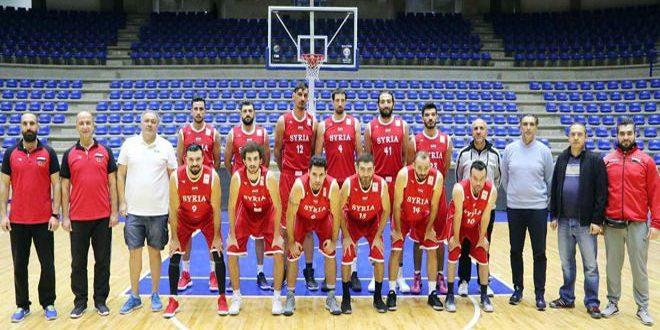 منتخب سورية للرجال بكرة السلة يواصل استعداده لتصفيات كأس العالم