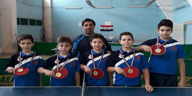 مدرسة فخر الدين صقر أولا في بطولة مدارس اللاذقية بالطاولة