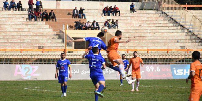 الوحدة يتصدر الدوري الممتاز لكرة القدم بعد فوزه على النواعير
