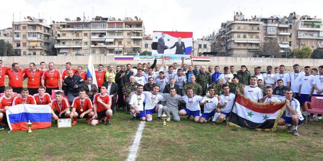 احتفالية رياضية في حلب بمناسبة الذكرى المئوية لتأسيس الجيش الروسي