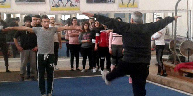 افتتاح دورة تدريب وتحكيم لكوادر الجمباز باللاذقية