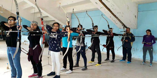اختبارات للاعبي القوس والسهم في اللاذقية استعدادا للاستحقاقات القادمة