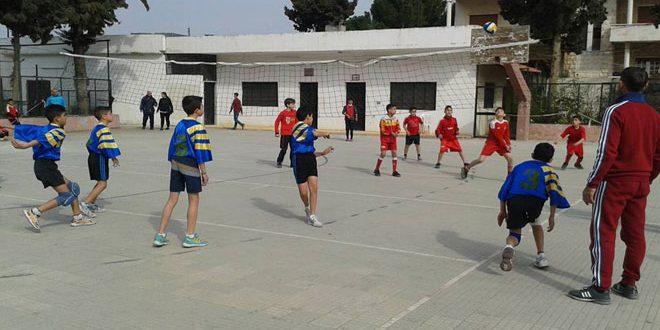 محردة وسلمية يحرزان لقب بطولة كرة الطائرة المدرسية بحماة