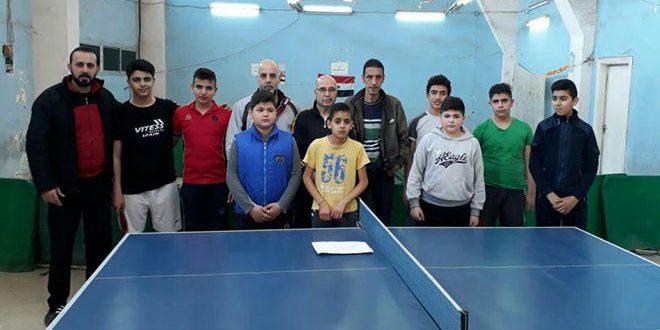 عمار يوسف يفوز ببطولة اللاذقية لكرة الطاولة للأشبال