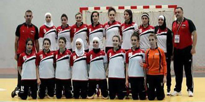 منتخب سورية لكرة اليد للسيدات ثالثاً في بطولة غرب آسيا