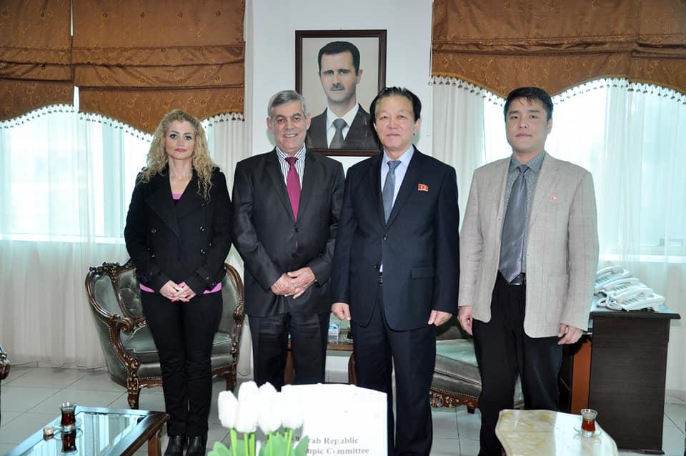 اللواء جمعة يبحث مع سفير كوريا الديمقراطية في دمشق سبل تعزيز علاقات الصداقة بين البلدين