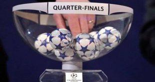 قرعة ربع نهائي دوري أبطال أوروبا.. برشلونة يواجه روما وريال مدريد يقابل يوفنتوس