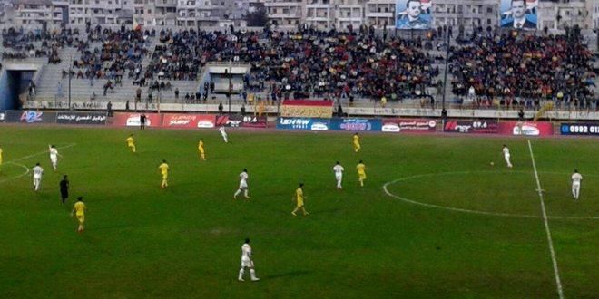 تشرين يفوز على الوحدة في قمة مباريات الجولة الـ 19 من الدوري الممتاز لكرة القدم