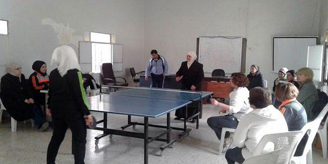 مشاركة واسعة ومواهب وخامات واعدة في بطولة حماة بكرة الطاولة للفئات العمرية