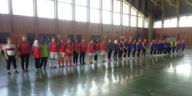 تواصل منافسات بطولة تجمع كرة اليد للناشئات في اللاذقية